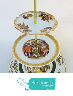 Three Tier Serving Stand, Cake Plate, Tray, Mismatched Plates, Cupcake Stand, Dessert, Appetizer, Tidbit, Vintage, Antique from Revived Charm https://www.amazon.com/dp/B01K18FTI8/ref=hnd_sw_r_pi_dp_sHvQxbPFJRKVY #handmadeatamazon