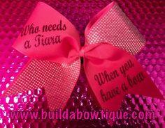 Who Needs A Tiara: Rhinestone Cheer Bows, Sequin, Glitter, Monogram & Custom Cheer Bows