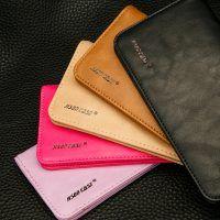 Peňaženkové púzdro JISONCASE pre pre všetky modely iPhonov z pravej kože, hnedá farba od prestížnej firmy JISONCASE. Púzdro je vyrobené z pravej kože Iphone 5c, Card Holder