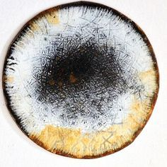 Amanda Denison brooch. enamel and rusted steel
