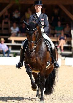Victoria Max-Theurer on Augustin OLD.  ©  Ken Braddick/dressage-news.com