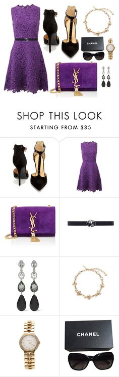 """""""Something To Die For"""" by fellymeza ❤ liked on Polyvore featuring Shoe Republic LA, Oscar de la Renta, Yves Saint Laurent, Tiffany & Co. and Chanel"""