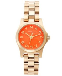 Marc by Marc Jacobs Watch, Women's Dinky Gold Ion-Plated Stainless Steel Bracelet 21mm MBM3202