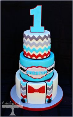 Little Man Cake + Smash Cake - by CuteologyCakes @ CakesDecor.com - cake decorating website