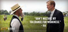 """Cinemax : """"Don't mistake my tolerance for weakness."""" - Kai Proctor ..."""