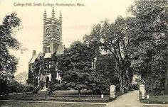 Northampton Massachusetts MA 1912 Smith College Hall Antique Vintage Postcard