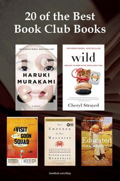 20 of the best book club books to add to your group's reading list. #books #bookclub #bookclubbooks