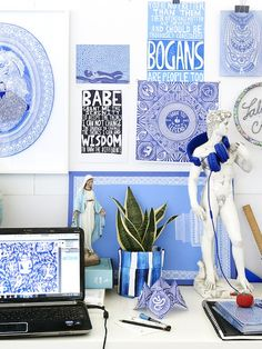 Details from the studio of Melbourne artist Lucas Grogan. Photo – Eve Wilson for thedesignfiles.net
