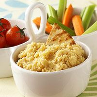 Hummus - Don't tell your kids that hummus is really just pureed chickpeas with a kick. Instead, pack a helping with carrot sticks or pita chips and call it dip. They'll never guess they're chowing down on Mediterranean health food.