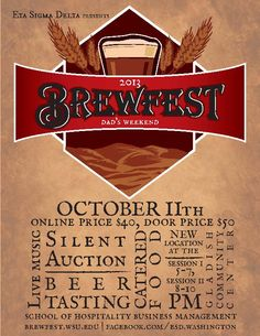 Eta Sigma Delta's Annual Brewfest for Dad's Weekend. By Johanna Walther