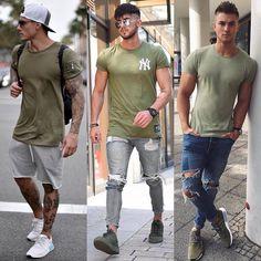 Verde está forte na moda masculina. Qual prefere? #modasemcensura #modamasculina #estilo