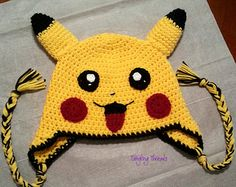 Pikachu hat,Pokémon hat,Christmas gift,Halloween costume,Gift,Birthday gift,Gifts,Character hat,Costume,Gifts idea,Funny hat,Accessories,Hat