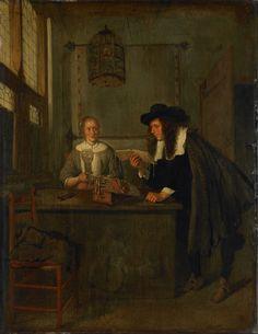 Le lecteur. Huile sur panneau en 1668 de Quirijn van Brekelenkam ou Quiringh Gerritsz van Brekelenkam (hollandais vers 1622 - vers 1669)