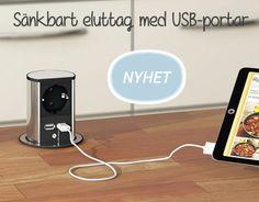 Sänkbart eluttag med USB