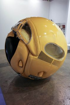 1953 VW Beetle sculpture by Ichwan Noor, contemporary sculpture, escultura… Contemporary Sculpture, Contemporary Art, Art Sculpture, Metal Sculptures, Mellow Yellow, Bright Yellow, Vw Beetles, Art Plastique, Installation Art