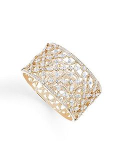 Piaget's High Jewelry Collection: Cuff Bracelet 18k pink gold set with 88 marquise-cut diamonds and 776 brilliant-cut diamonds