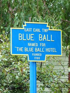 Blue Ball, PA  .