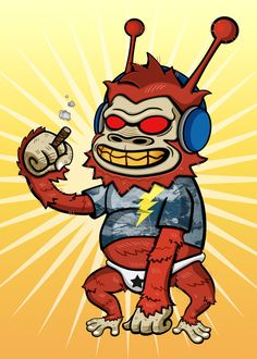 Devil Summer Rock - Radio Ape  / Creator, Characters and Illustrations by PEPPERJERRY