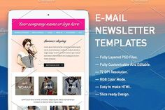 E-mail Newsletter Templates by KULISTOV on @creativemarket