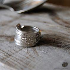 $25.95  silverware jewelry, Spoon Ring, Fork Ring, spoon jewelry, silverware art by SennaDesigns on Etsy