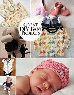 A bunch of cute DIY baby ideas and tutorials