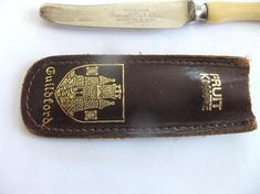 Vintage Souvenir Fruit Knife With Sheath Guildford Thomas W