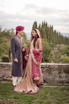 Pakistani Fusion Destination Wedding in Tuscany(Italy)Bridal by Sana SafinazPhotography byRosapaola Lucibelli
