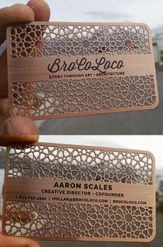 Intricate Laser Cut And Etched Metal Business Card For An Architect // personal branding Wedding Card Design, Wedding Designs, Wedding Cards, Wedding Invitations, Unique Invitations, Wedding Ideas, Metal Business Cards, Unique Business Cards, Cool Business Ideas