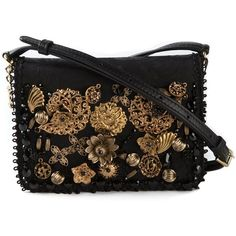 Dolce & Gabbana Lily Twist Passementerie Shoulder Bag (34.363.035 VND) ❤ liked on Polyvore featuring bags, handbags, shoulder bags, black, shoulder bag purse, dolce gabbana shoulder bag, magnetic closure handbags, dolce gabbana handbags and embroidery handbags