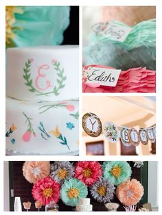 Floral themed birthday party via Kara's Party Ideas!