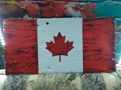Canada Flag on HISTORIC slate that once covered the Ontario Legislative Building at Queen's Park in Toronto Ontario Canada Midland Ontario, Toronto Ontario Canada, Slate, Make It Yourself, Park, Building, Chalk Board, Buildings, Parks
