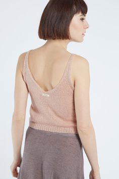 Venda Double agent / 33521 / Tops e blusas / Tops e camisolas de alças / Top de malha Rosa