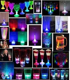 LED Light Up Drink Glass es Wine Acrylic ColaTumbler