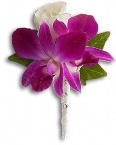 Fresh in Fuchsia Boutonniere - Teleflora