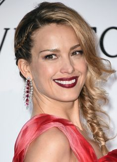 Petra Nemcova Loose Braid - Petra Nemcova charmed with this loose side braid at the amfAR Cinema Against AIDS Gala.