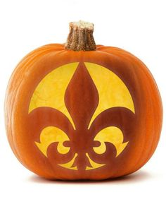 The fleur de lis symbol is synonymous with the city of New Orleans, and you can carve one into your jack-o-lantern this year with our template.