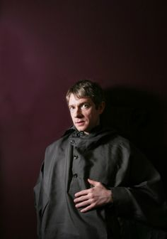 Martin Freeman in a poncho looking jacket @Natalie