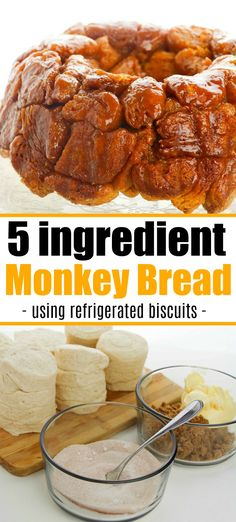 Easy monkey bread recipe using refrigerated biscuits is easier than you think! A… Easy monkey bread recipe using refrigerated biscuits is easier than you think! Add apples, berries and a drizzle of frosting for the ultimate breakfast. Easy Bread Recipes, Cooking Recipes, Healthy Recipes, Apple Monkey Bread, Homemade Monkey Bread, Monkey Bread Easy, Cinnamon Monkey Bread, Breakfast Recipes, Dinner Recipes