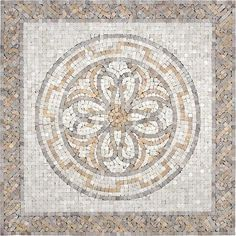Anatolia - Renaissance Travertine Medallion - 24 Inches x 24 Inches - 77-211 - Home Depot Canada
