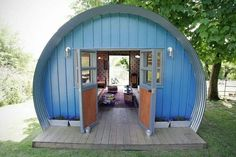 """Hut style tiny...interesting...add side storage areas, and make a """"hobbit house""""?"""