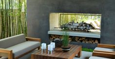 modern outdoor fireplaces designs | ... right size and scale for an outdoor fireplace. Outdoor Fireplace Size