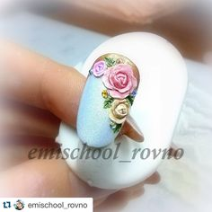 3d Nail Art, 3d Nails, Pink Nails, Art 3d, Flower Nail Designs, Dream Nails, Clay Dolls, Flower Nails, Creative Nails