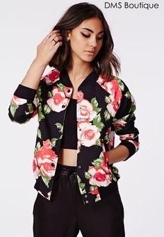 jaqueta estampa de flores