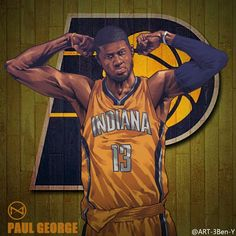 Indiana Pacers star Paul George has been flexin' in the east averaging points, rebounds and assists. Indiana Basketball, Basketball Art, Basketball Pictures, Basketball Legends, College Basketball, Basketball Players, Basketball Quotes, Soccer, Nba League
