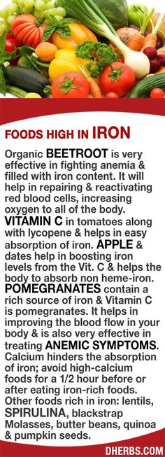 Organic Beetroot fight anemia & are filled with iron. Helps in repairing & reactivating red blood cells, increasing oxygen to all of the body. Vitamin C in tomatoes along with lycopene helps absorption of iron. Apple & dates boosts iron levels from the Vit. C & helps the body to absorb non heme-iron. Pomegranates contain a rich source of iron & Vitamin C & improves blood flow. Calcium hinders the absorption of iron; avoid high-calcium foods for a 1/2hr before/after eating iron-rich foods.
