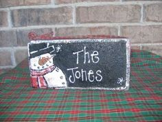 christmas brick craft   snowman brick   Christmas crafts
