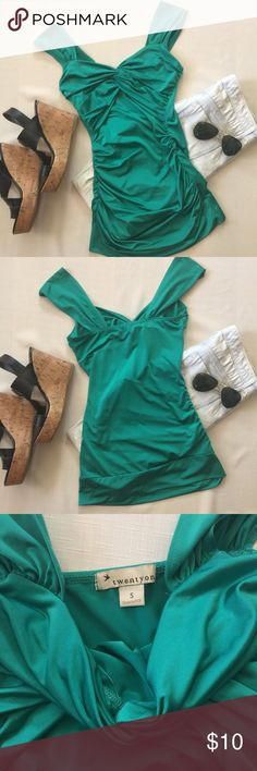 Green F21 top Green top with slight stretch. Forever 21 Tops