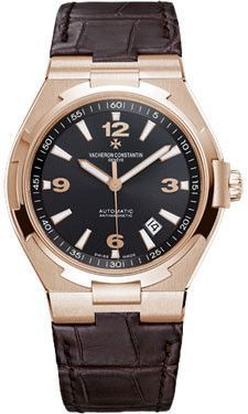 Vacheron Constantin Overseas Date Self-Winding Watches. 42mm 18K 5N pink gold case anti-magnetic protection to 25,000 A/m, solid back, anthracite dial, automatic 1226 movement with hours, minutes, cen