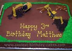 construction cake idea  perfect for matthew except he'll be 23 this year LOLOL @matt paetkae
