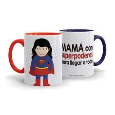 Taza personalizada para una mamá con super poderes ¡Regalo para el día de la madre!